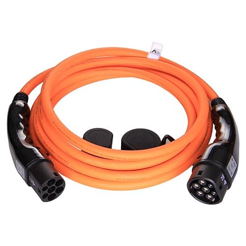 1-EV Type2 -> Type2 orange (3x32A) EV Nabíjacie